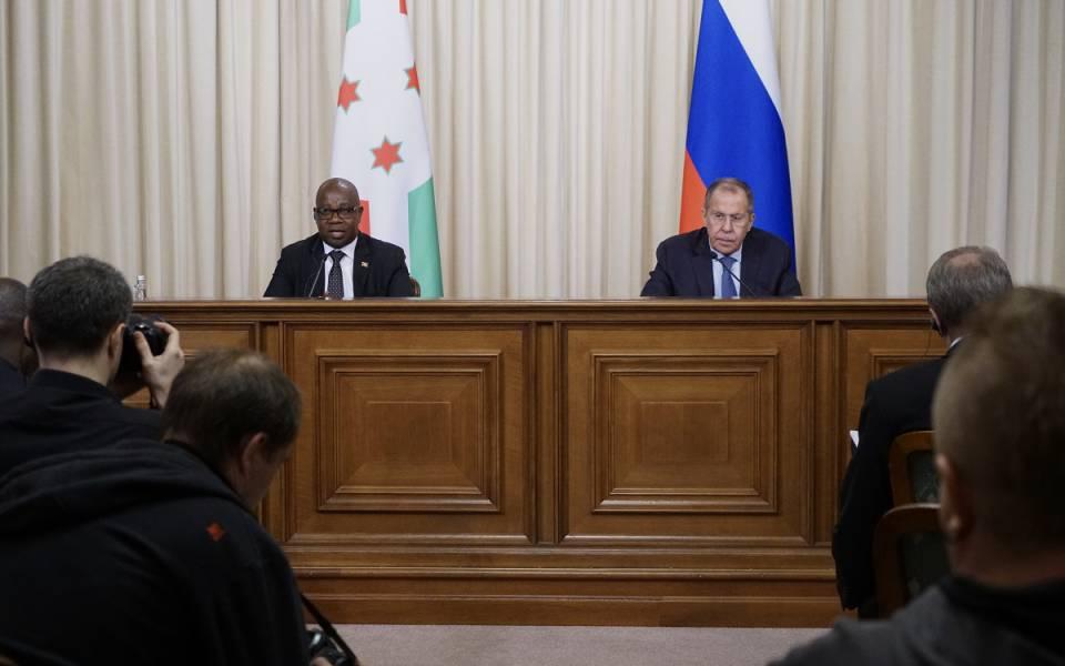Пресс-конференция министров иностранных дел Бурунди иРоссии 5ноября 2019 года