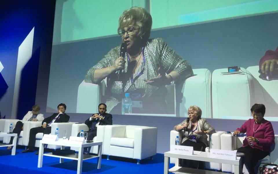Нэлла Прусс делится опытом использования ИКТ вработе Ассоциированных школ