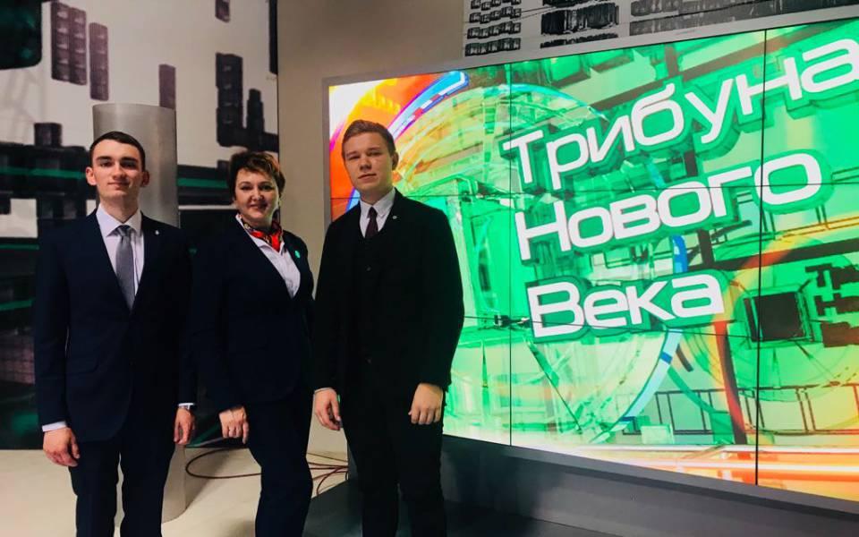 Наталья Аппалонова иДаниил Шейко впрограмме «Трибуна Нового Века» нателеканале «ТНВ»