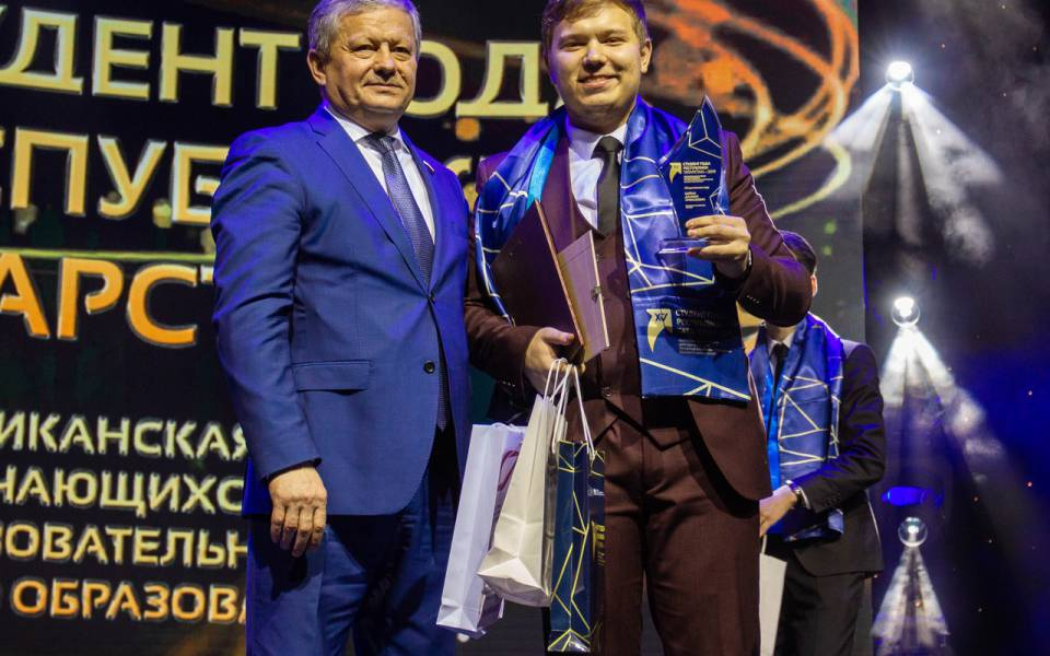 Победитель вноминации «Общественник года» Даниил Шейко