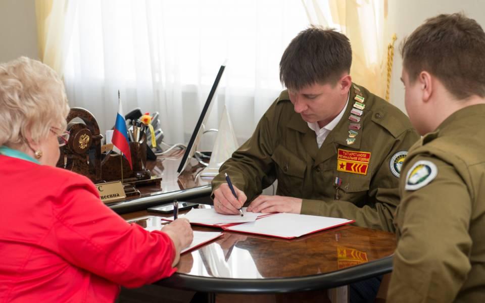 Подписание соглашения осотрудничестве между «ТИСБИ» иРоссийскими студенческими отрядами