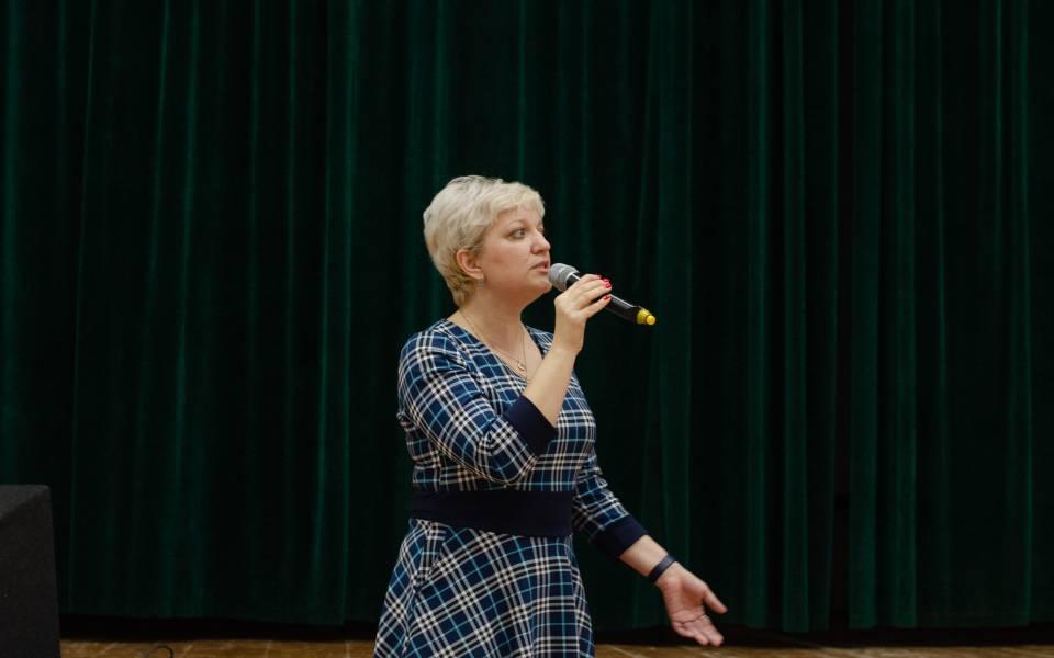 Выступление проректора повоспитательной работе Евгении Прохоровой