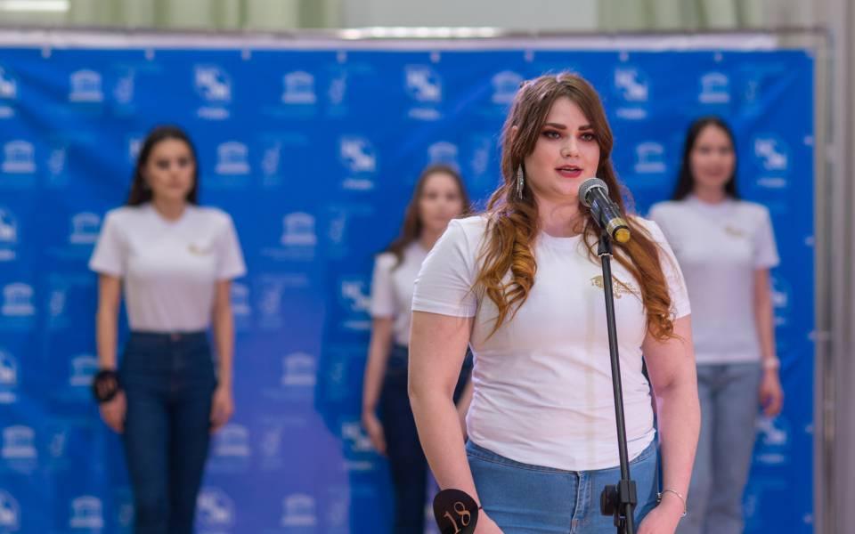 Студентка экономического факультета Полина Кисаримова наочном этапе «Красы студенчества РТ— 2020»