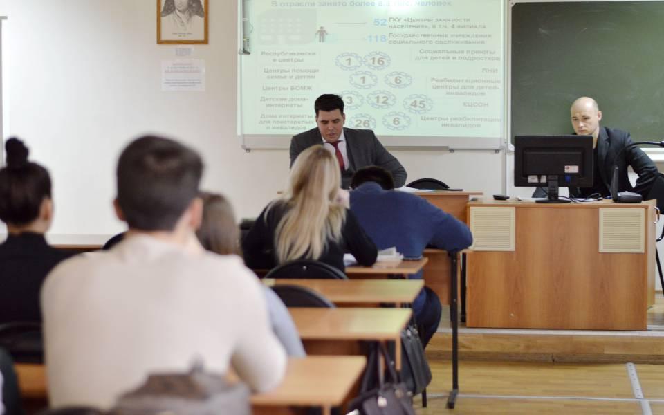 Студенты 4 курса юридического факультета навстрече сАделем Мубаракшиным